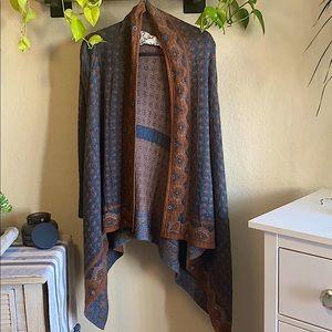 Anthropologie field flower drape cardigan jacket